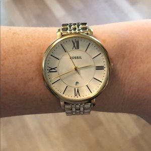 Yellow Gold Fossil Watch